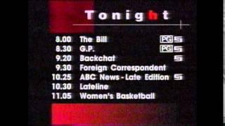 ABC TV - Evening Programme Schedule (7/5/1996)