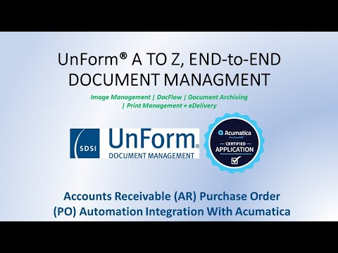 UnForm PO/AR Video