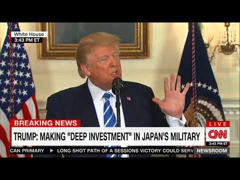 President Donald Trump Takes A Water Break