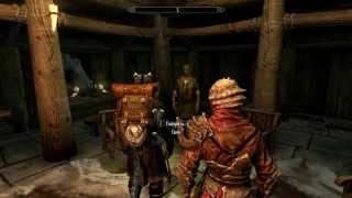 Skyrim - Bard music replacement mod. Greensleeves + Morrowind theme [HD]