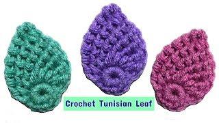 How To Crochet Tunisian Leaf For Beginners - Crochet Jewel