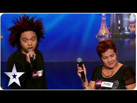 Fe and Rodfil: The Unlikeliest Of Singing Duos | Asia's Got Talent 2015 Ep 2 (видео)