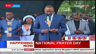 President Uhuru's prayer for the nation ahead of the presidential elections