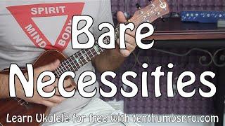 Bare Necessities - The Jungle Book - Ukulele Tutorial W/lyrics