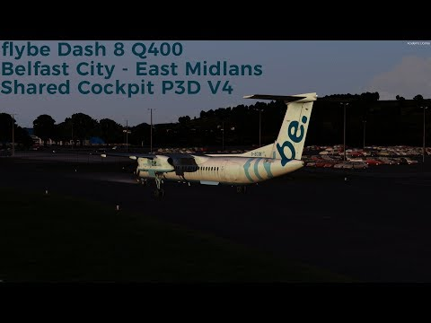 CRABBED APPROACH] P3Dv4 | Majestic Dash 8 | BEE48U | EGBB
