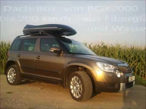 Skoda YETI mit Panoramadach und Dachbox (Video und Bilder)