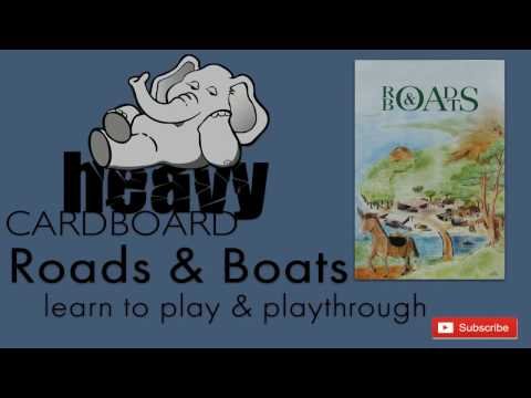 Heavy Cardboard Teaches Roads and Boats & Full Playthrough!