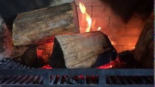 Burning Timber on a Fire Place