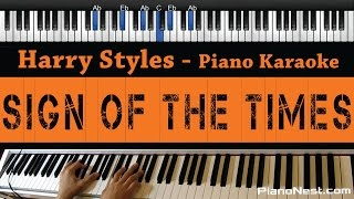 Harry Styles   Sign Of The Times   Piano Karaoke  Sing Along  Cover With Lyrics
