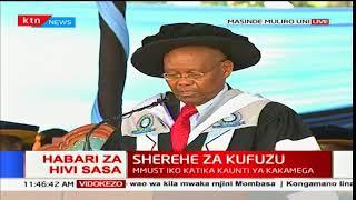 DKT Peter Wanyaga aapishwa kama chansela mpya wa Chuo Kikuu cha Masinde Muliro