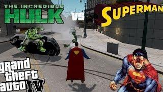 Download Video GTA IV Superman Mod + Hulk Mod - Epic Battle Superman vs Hulk MP3 3GP MP4