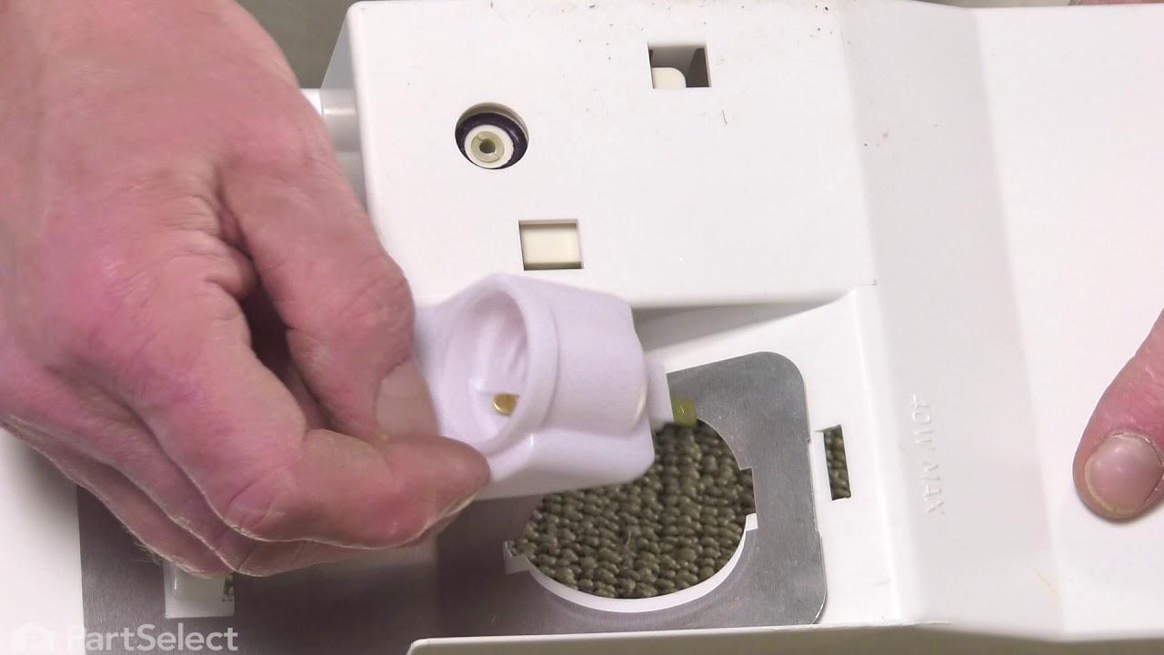 Replacing your General Electric Refrigerator Light Socket & Terminal