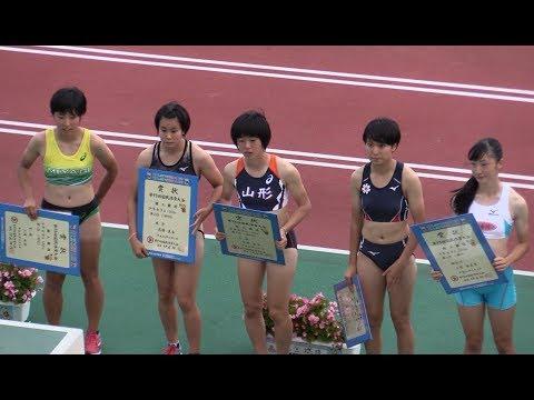 福井国体  少年女子A100m表彰式 (三浦由奈/宮城/11.83) 2018.10 陸上/高校生