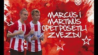 MARCUS & MARTINUS OPET POSETILI ZVEZDU   MARCUS & MARTINUS SUPPORTS FC RED STAR
