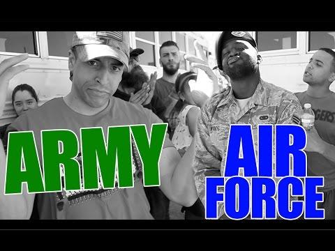 Military Rap Battle: Army VS Air Force!