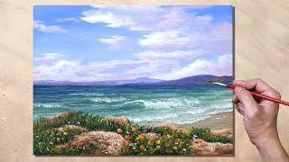 Acrylic Painting Morning Seascape