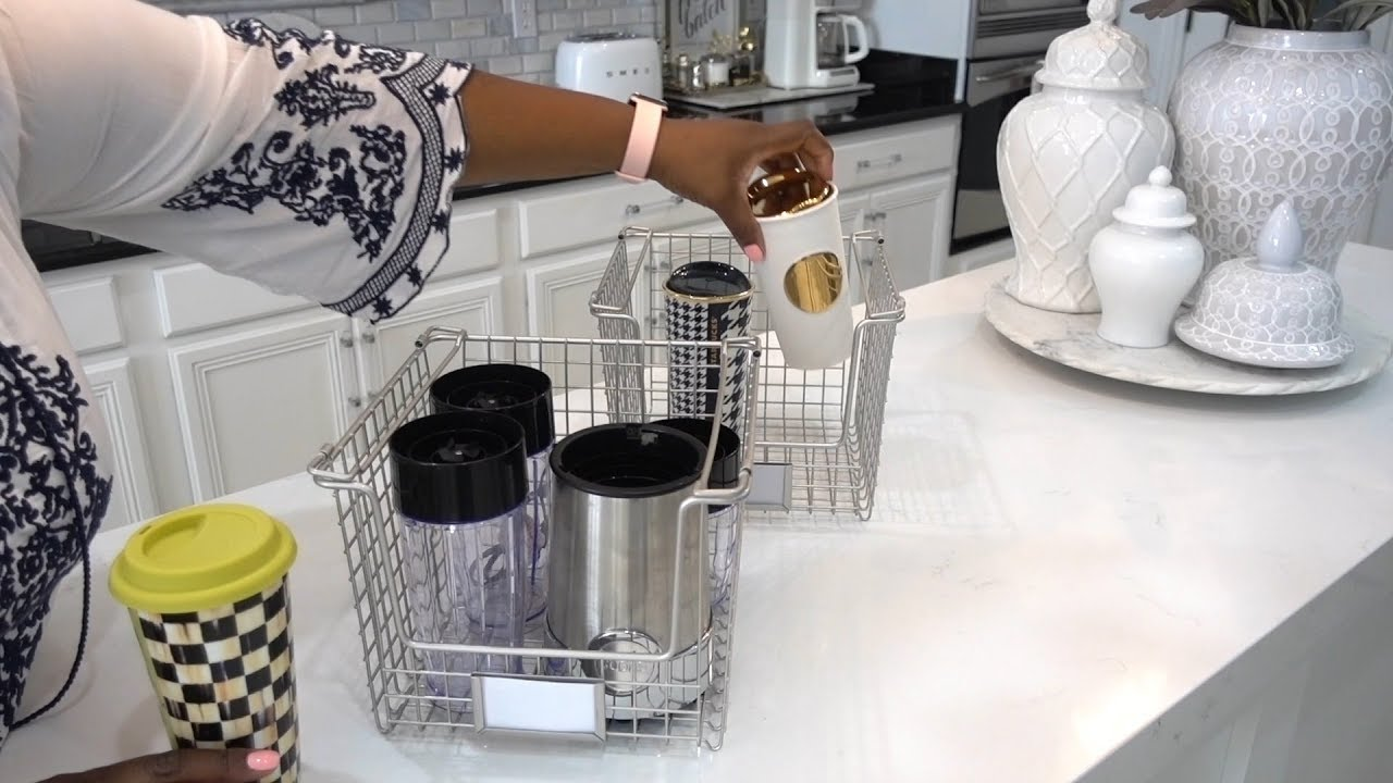 ORGANIZE YOUR TRAVEL MUGS with Denise Cooper