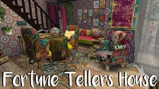 The Sims 4: Speed Build / FORTUNE TELLERS HOUSE + CC Links