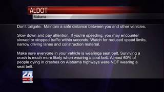 ALDOT Encourages Safe Driving on Labor Day Weekend