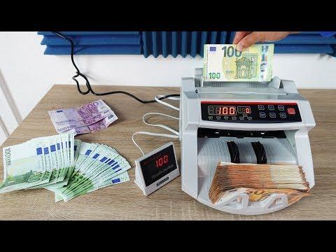 Günstige Geldzählmaschine für SCHEINE im TEST! - Das macht Spaß!