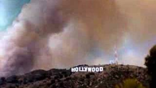 Hollywood Hills  Fire Timelapse