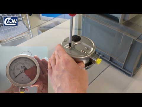 High-pressure gauges - Transit screw removal