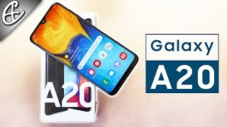 """Samsung Galaxy A20 (6.4"""" Infinity V @ 12.5K w/ 4000mAh) - Unboxing & Hands on Review !!!"""