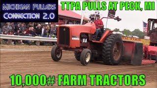 10,000#  Farm Tractors Pull At Peck, MI  TTPA Pulls  June 2018