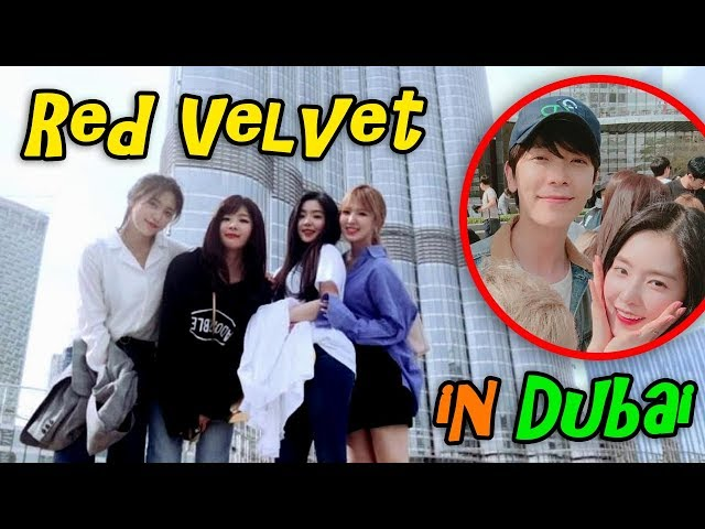 Red Velvet Moments With Smtown Family In Dubai S Burj Khalifa And The Fountain 레드벨벳