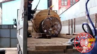 Захват для подъема кабельных барабанов в вертикальном положении захват-удочка