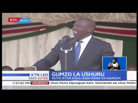 Naibu wa Rais William Ruto aunga mkono ushuru wa ziada