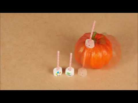 DIY Happy Halloween decoratie marshmallows
