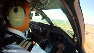 preview picture of video 'ERJ 145 LANDING AT HERMOSILLO INTL AIRPORT COCKPIT VIEW'