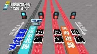 201402231900JR京浜東北線衝突脱線閉鎖前の線路に間違えて乗せた