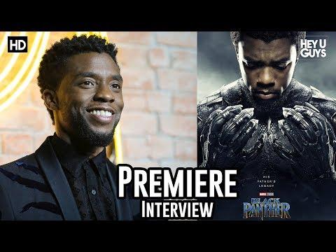 Chadwick Boseman - Black Panther Premiere Interview