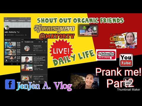Shout out organic friends!/ Youtube prank me part2.
