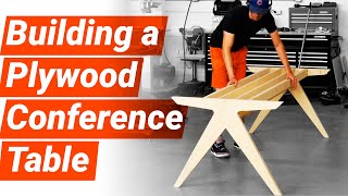 Building a DIY Conference Table   Woodworking