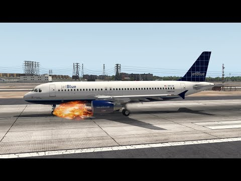 JetBlue A320 Has Nose Gear Failure - X-Plane 11