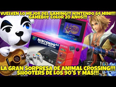 NOTICIAS EPICAAAS: WOW!!! NINTENDO 64 MINI REVELADA!!! ? GAMEBOY COLOR 20 AÑOS!!! ANIMAL CROSSING!!!