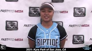 2021 Kyra Park Outfield, Pitcher and Second Base Softball Skills Video