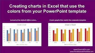 Creating graphs in Excel that use the colors from your PowerPoint template (video tutorial)