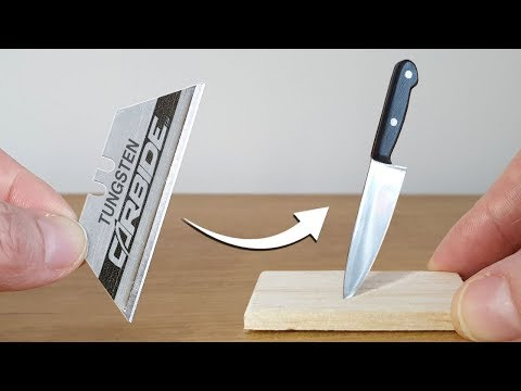 Turning a Box Cutter Blade Into a Mini Chef's Kitchen Knife