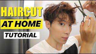 Easy Haircut Yourself At Home | KOREAN MENS TWO BLOCK CUT TUTORIAL | 自己剪頭髮 | ISSAC YIU