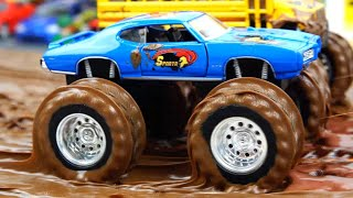 Monster Trucks in the Mud and Water Show