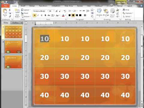 Creating Jeopardy And Hidden Object Games With MS PowerPoint 2010