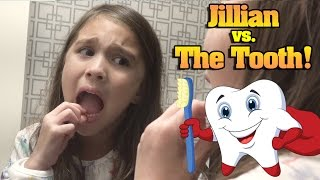 JILLIAN vs. THE TOOTH! Hotel Bathroom Battle!!!