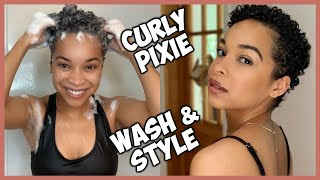 Styling My Curly Pixie | 1 Week Post Big Chop