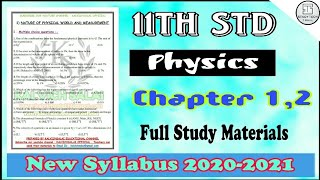 11th Std Physics Chapter-1,2 Full Study Materials | English Medium | New Syllabus 2020-2021