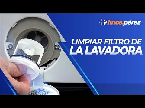 Cómo limpiar el filtro de una lavadora