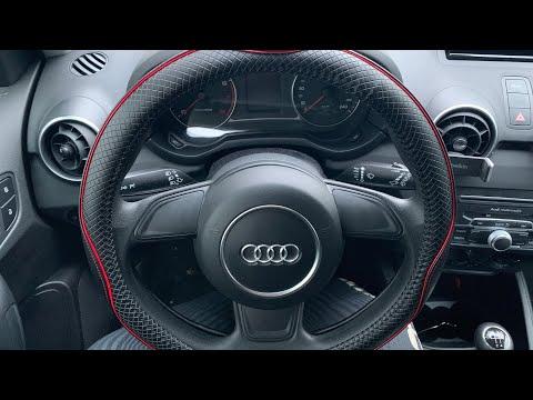 Auto Lenkradhülle Lenkradbezug Leder Lenkradabdeckung Lenkradschoner Audi A1/S1 Sportback Anleitung